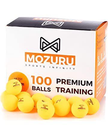 12 Pezzi Palline da Ping Pong in plastica Arancione BKAUK Diametro 40 mm