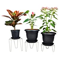 D&V Engineering Iron Indoor/Outdoor Flower Pot/Plant Stand for Home Garden or Balcony décor