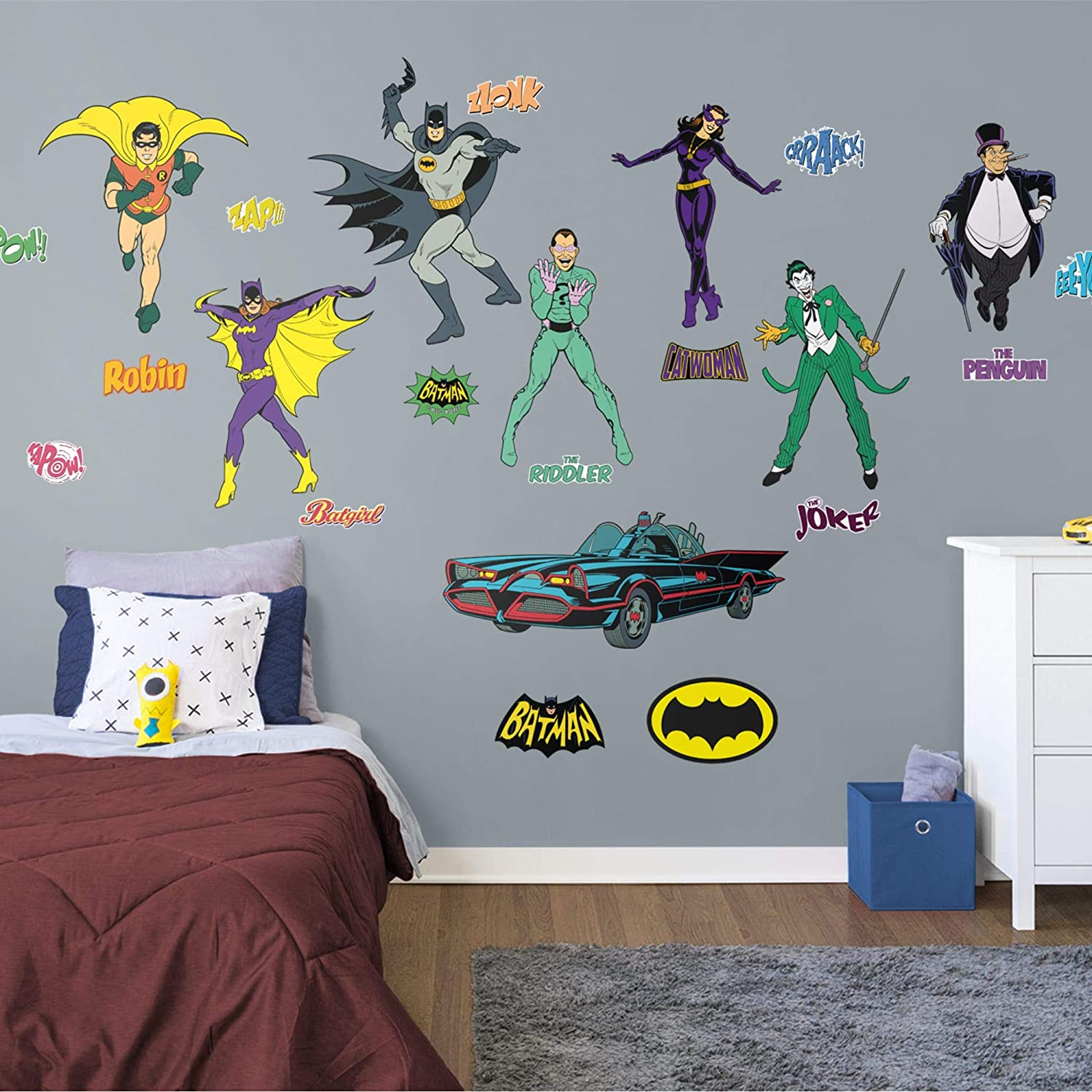 FATHEAD Batman: Classic Comic Book Collection-X-Large Officially Licensed DC Removable Wall Decal