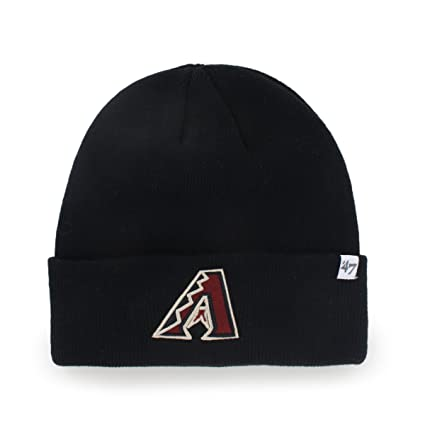 47 Arizona Diamondbacks Black Cuff Beanie Hat - MLB Cuffed Winter Knit  Toque Cap 32ded14d8fc4