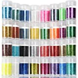 Teenitor Fine Glitter, 32 Jars 8g Each Glitter Set, 32 Assorted Color Arts and Craft Glitter, Eyeshadow Makeup Nail Art Pigme