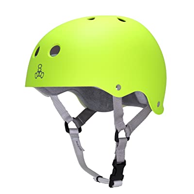 Triple Eight Sweatsaver Liner Skateboarding Helmet, Zest Rubber, Large : Sports & Outdoors