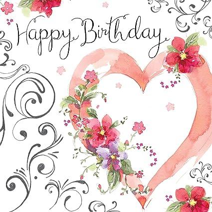 Happy Birthday Karte Für Frauen.Twizler Happy Birthday Karte Für Frauen Mit Silberfolie