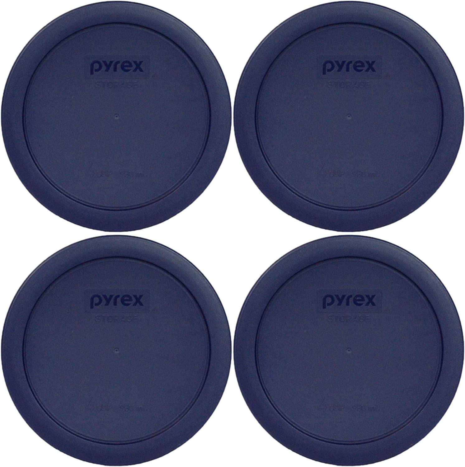 Pyrex 7201-PC Round 4 Cup Storage Lid for Glass Bowls 6, Blue