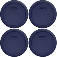 Pyrex 4 Cup Round Plastic Cover 4-Pack, Navy Blue (4)