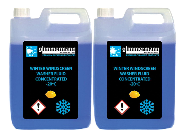 Glimmermann Products Líquido limpiaparabrisas concentrado, efectivo hasta -20 ºC.: Amazon.es: Coche y moto