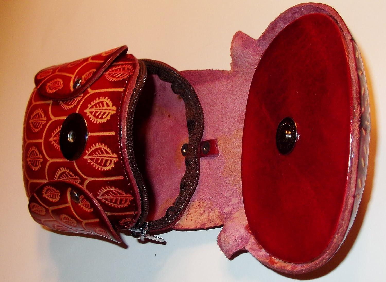 Amazon.com: Archimedes el búho – Rojo Búho cartera de piel ...