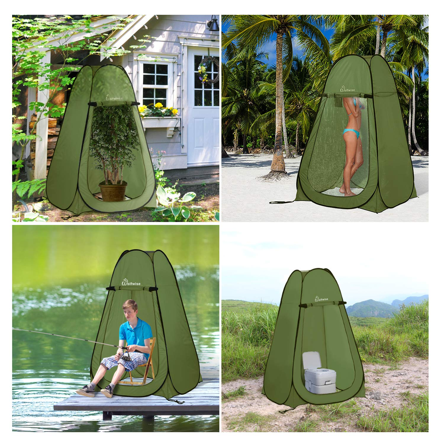 WolfWise Portable Camping Beach Toilet