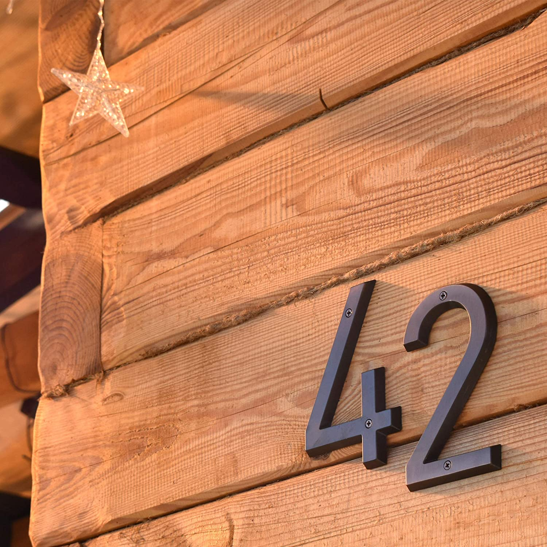 N/úmero 2 aleaci/ón de zinc HASWARE Se/ñal de n/úmero de casa 6 pulgadas Estilo vintage Acabado en bronce envejecido N/úmeros de puerta Placa de se/ñalizaci/ón Calle Direcci/ón N/úmeros de casa