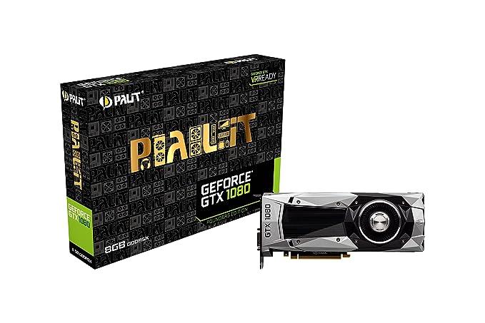 Palit NVIDIA GeForce GTX 1080 Founders Edition GDDR5X Graphics Card (HDMI  2 0, DVI-I, 3 x DisplayPort 1 4, PCI-Express 3 0)