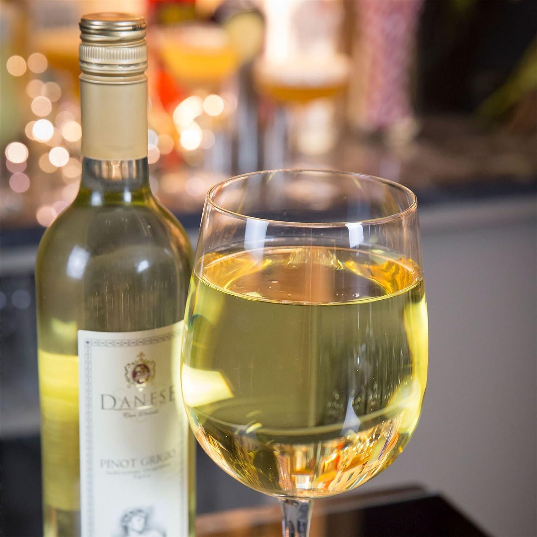Pista de beber la copa de vino gigante - 750ml botella llena de vino de cristal - Pack de 6: Amazon.es: Hogar