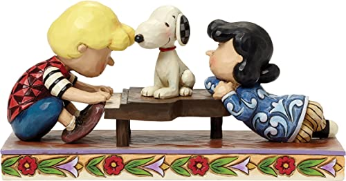 Jim Shore for Enesco Peanuts Schroeder with Lucy Snoopy Figurine, 4