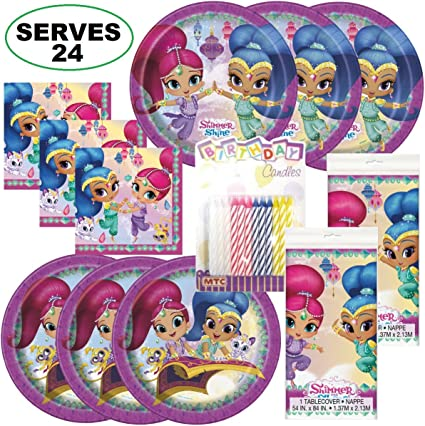 Amazon.com: Shimmer Shine Super Bundle suministros de fiesta ...