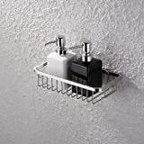 KES Bathroom Shower Caddy Rectangular Extra Deep SUS304 Stainless Steel Wall Mount Brushed Finish, A2125-2