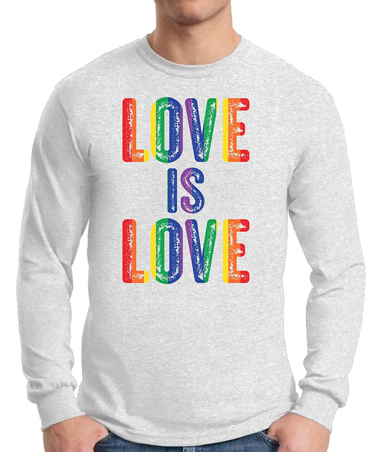 ae029207d Show your support & love to the LGBTQ Community with this rainbow colored  Love Is Love Long Sleeve T shirt Tee! Tired of the shaggy comments?