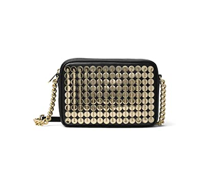 66354ee421a79 Image Unavailable. Image not available for. Color  MICHAEL Michael Kors  Sequin Pouch Medium Crossbody Black Gold