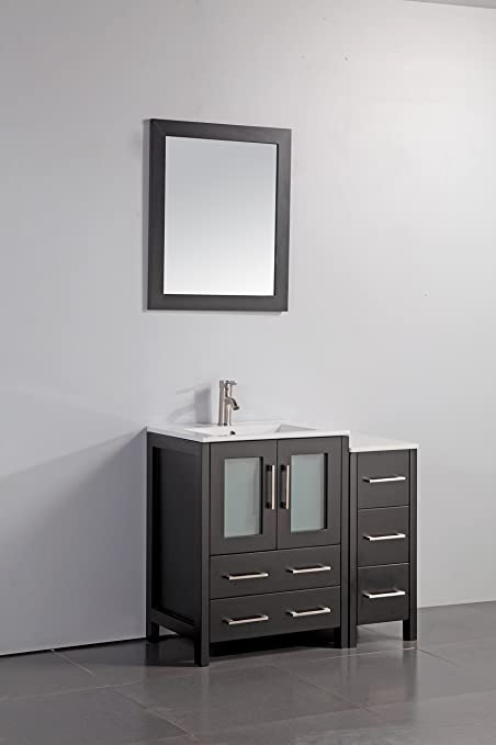Peachy Vanity Art 36 Inch Single Sink Bathroom Vanity Set With Ceramic Top With Free Mirror Va3024 36 E Download Free Architecture Designs Pushbritishbridgeorg