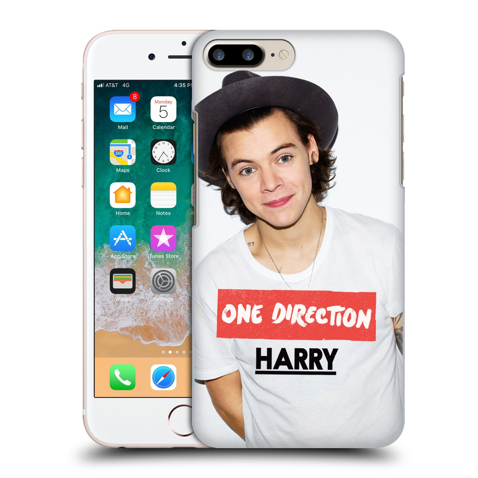 huge discount 184ec 8659f Amazon.com: Official One Direction Hat Harry Styles Photo Hard Back ...