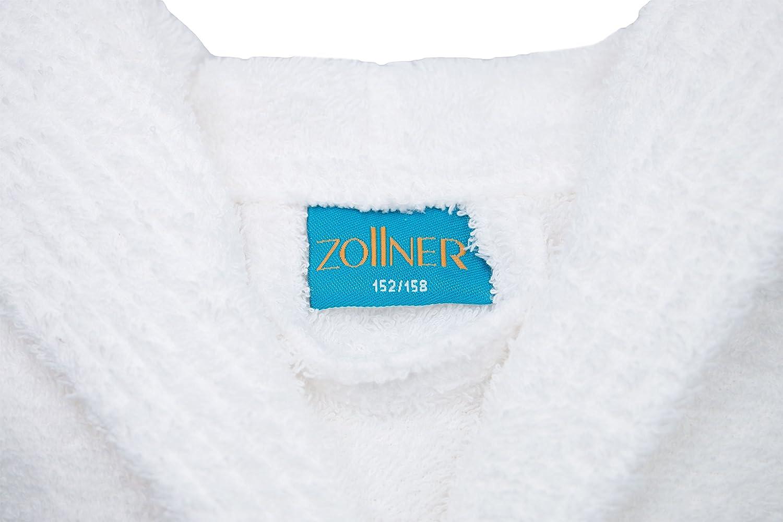 ZOLLNER Accappatoio Bianco per Bambini con Cappuccio in Altre Misure 122//128