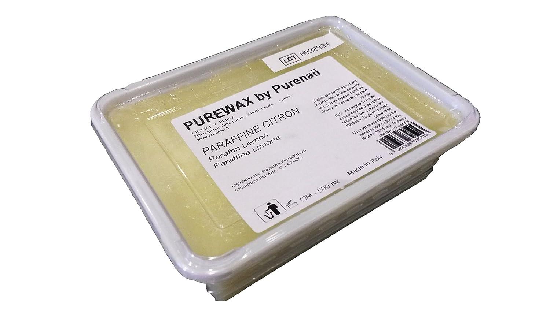 1pane di 500ml di paraffina Limone per riscaldamento paraffina, cura delle mani e dei piedi