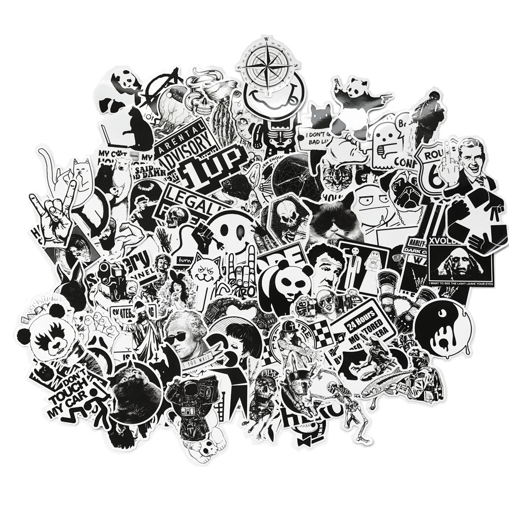 Amazon com dreamergo graffiti stickers 100 pieces black and white smooth car motorcycle bicycle skateboard laptop luggage vinyl sticker computers