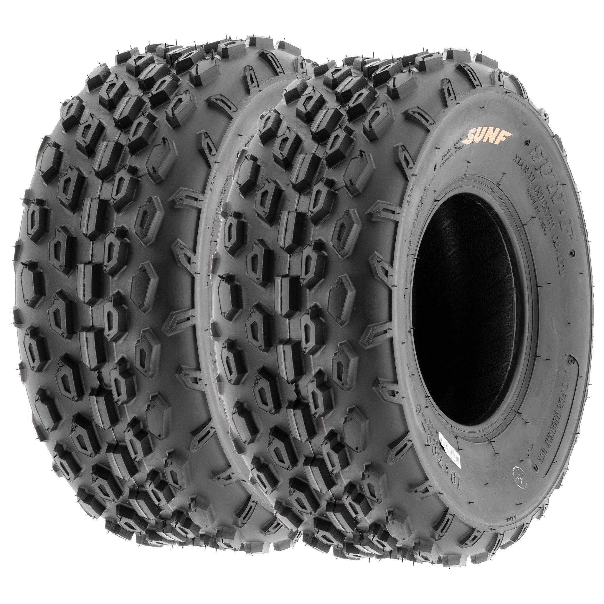 Set of 2 SunF A015 Sport-Racing ATV/UTV Tires 19x7-8, 6-PR by SUNF