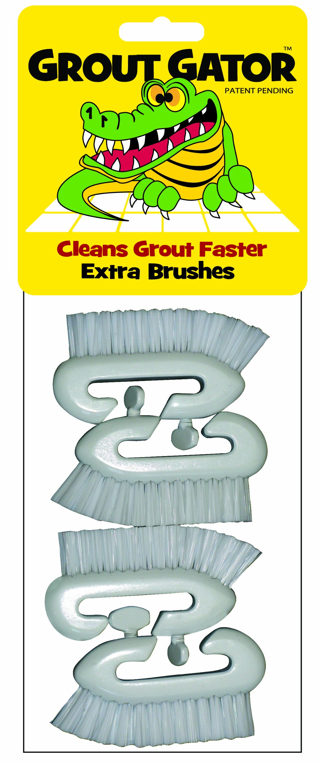 Grout Gator 4PACKBRHD Replacement Brush Heads, 4-Pack