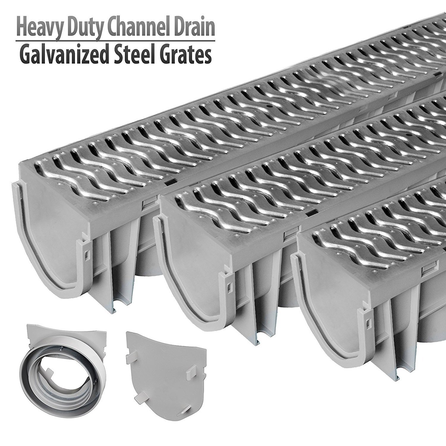 Source 1 Drainage Trench & Driveway Channel Drain with Galvanized