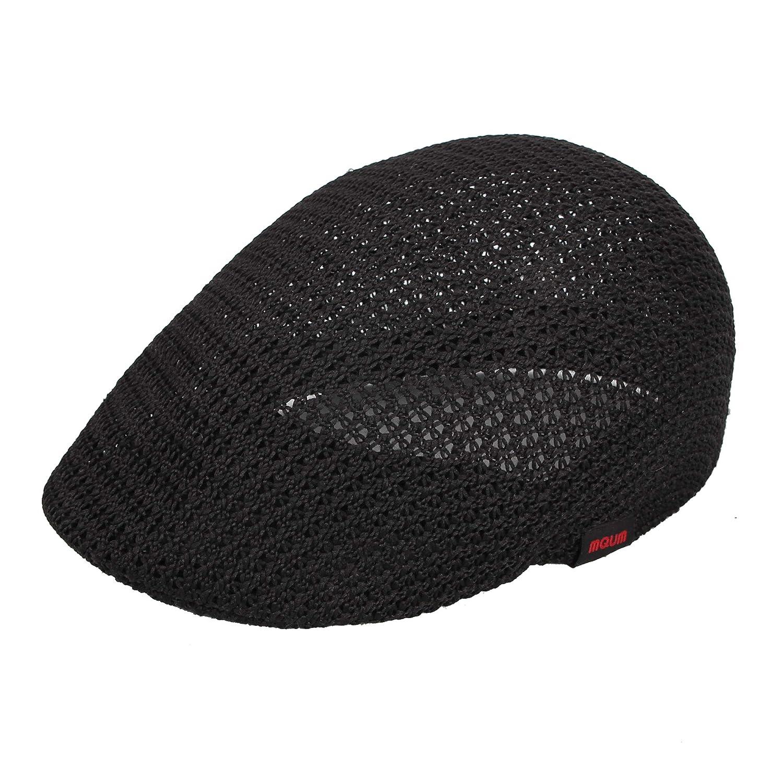 WITHMOONS Men Breathable Mesh Summer Hat Newsboy Beret Ivy Cap Cabbie AM31168