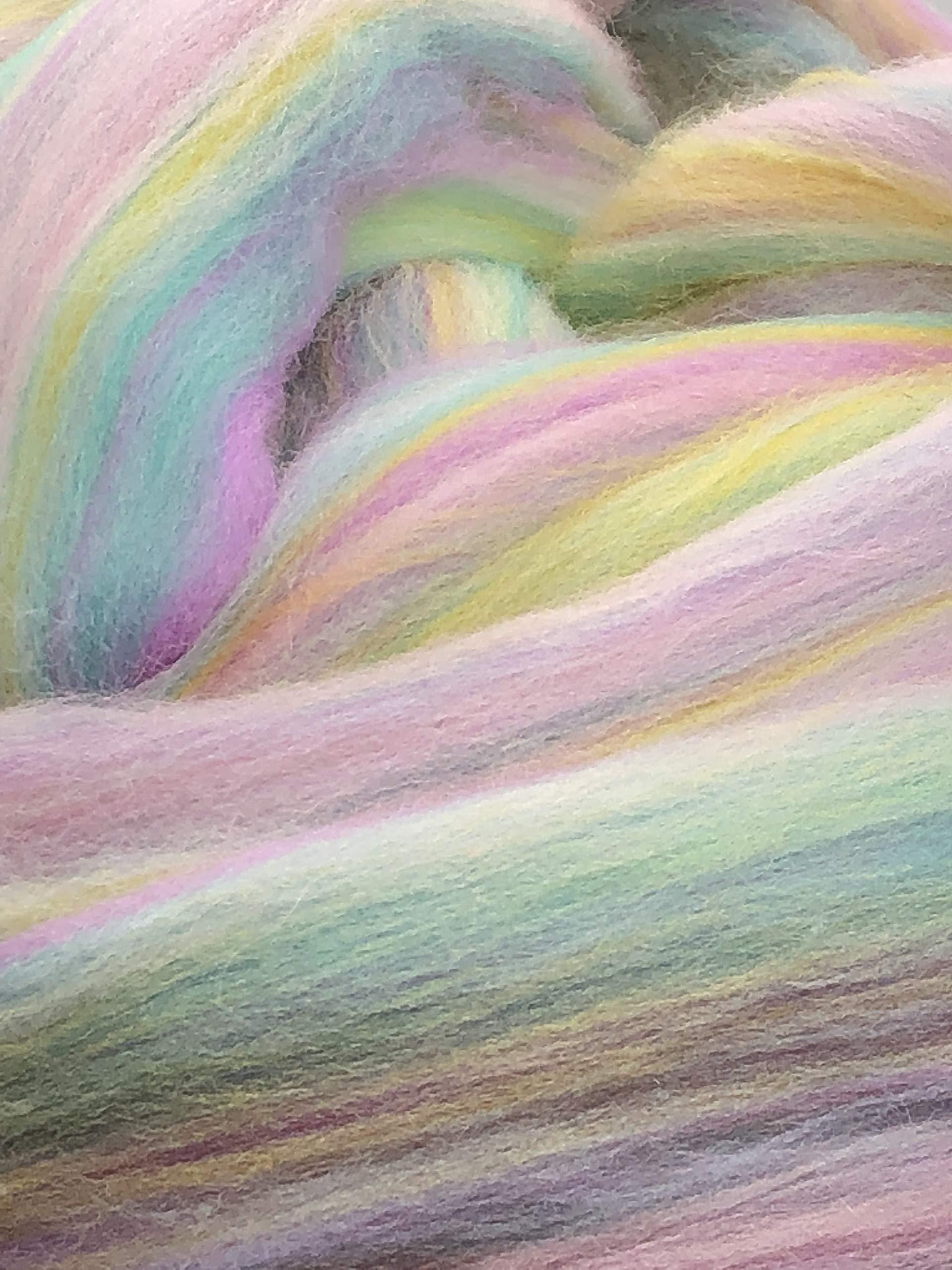 Shep's Pastel Rainbow Merino Wool Top Roving Spinning, Felting Crafts USA (4lb) by Shep's Wool (Image #2)
