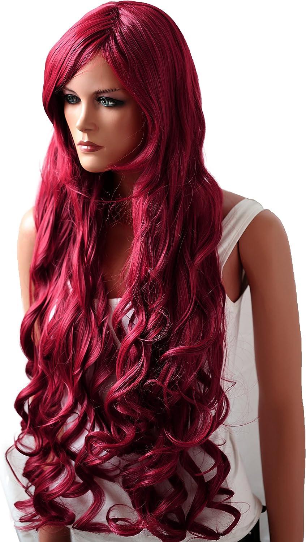Pretty Shop Pretty Wig - Peluca lisa extralarga de 80 cm, resistente al calor, de fibra sintética, como pelo real (Cosplay Show Theater Party & Co)