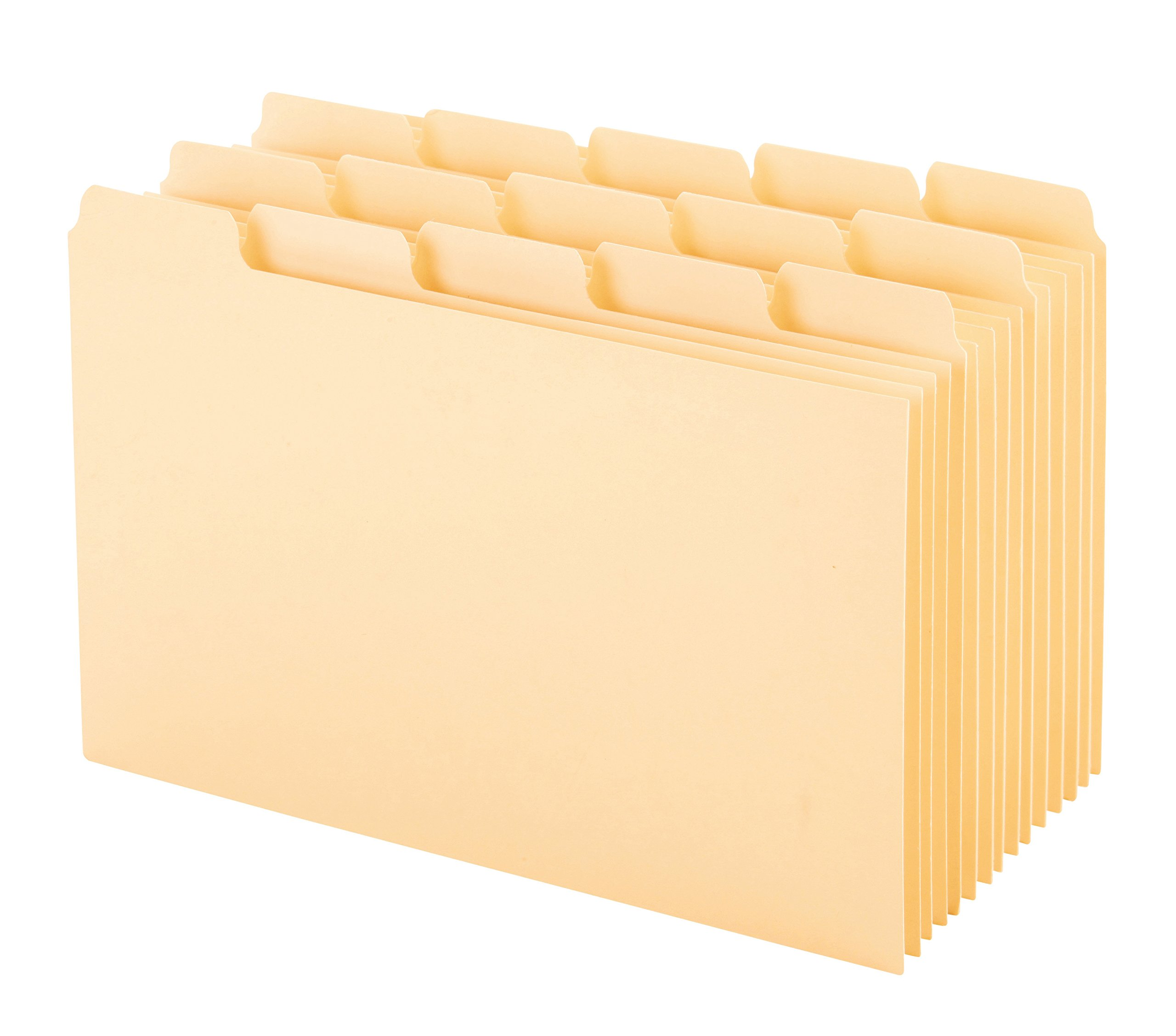 Oxford Index Card Guides with Blank Tabs, 4 x 6 Inches, 1/5 Cut Tabs, Manila, 100 per Box (40462)