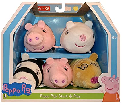 Peppa Pigs Stack Play Peppa Pig George Pig Richard Rabbit Pedro Pony And Zoe Zebra