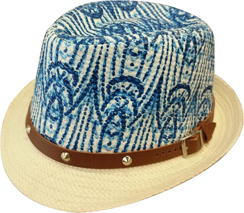 YueLian Unisex Kids Performance Summer Party Bowler Sun Hat Travel Fedora