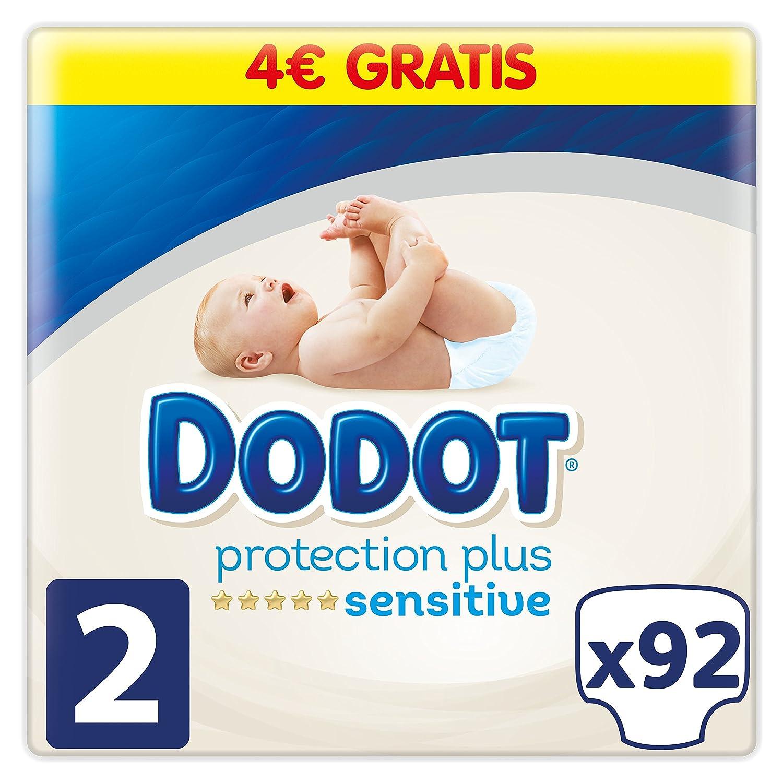 Dodot Pañales Protection Plus Sensitive, Talla 2, para Bebes de 4-8 kg - 92 Pañales: Amazon.es: Salud y cuidado personal