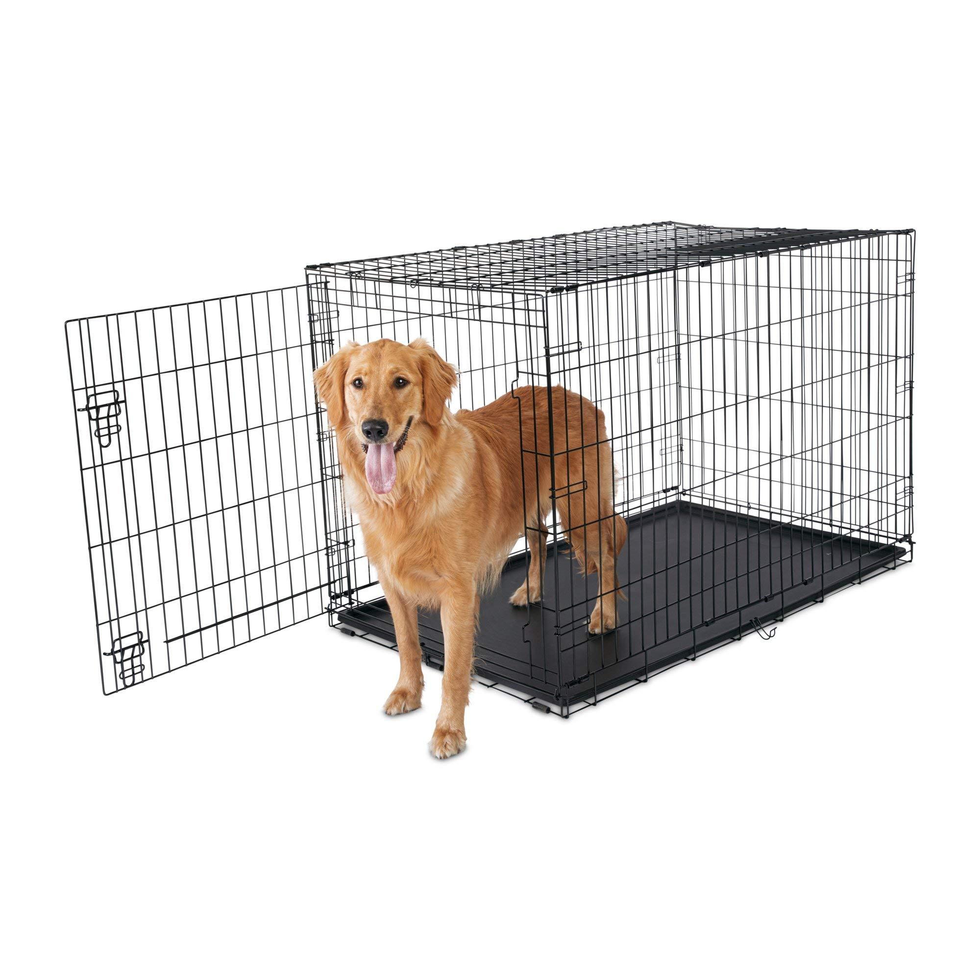 Animaze 1-Door Folding Dog Crate, 48.5'' L x 30.2'' W x 32'' H, XX-Large, Black