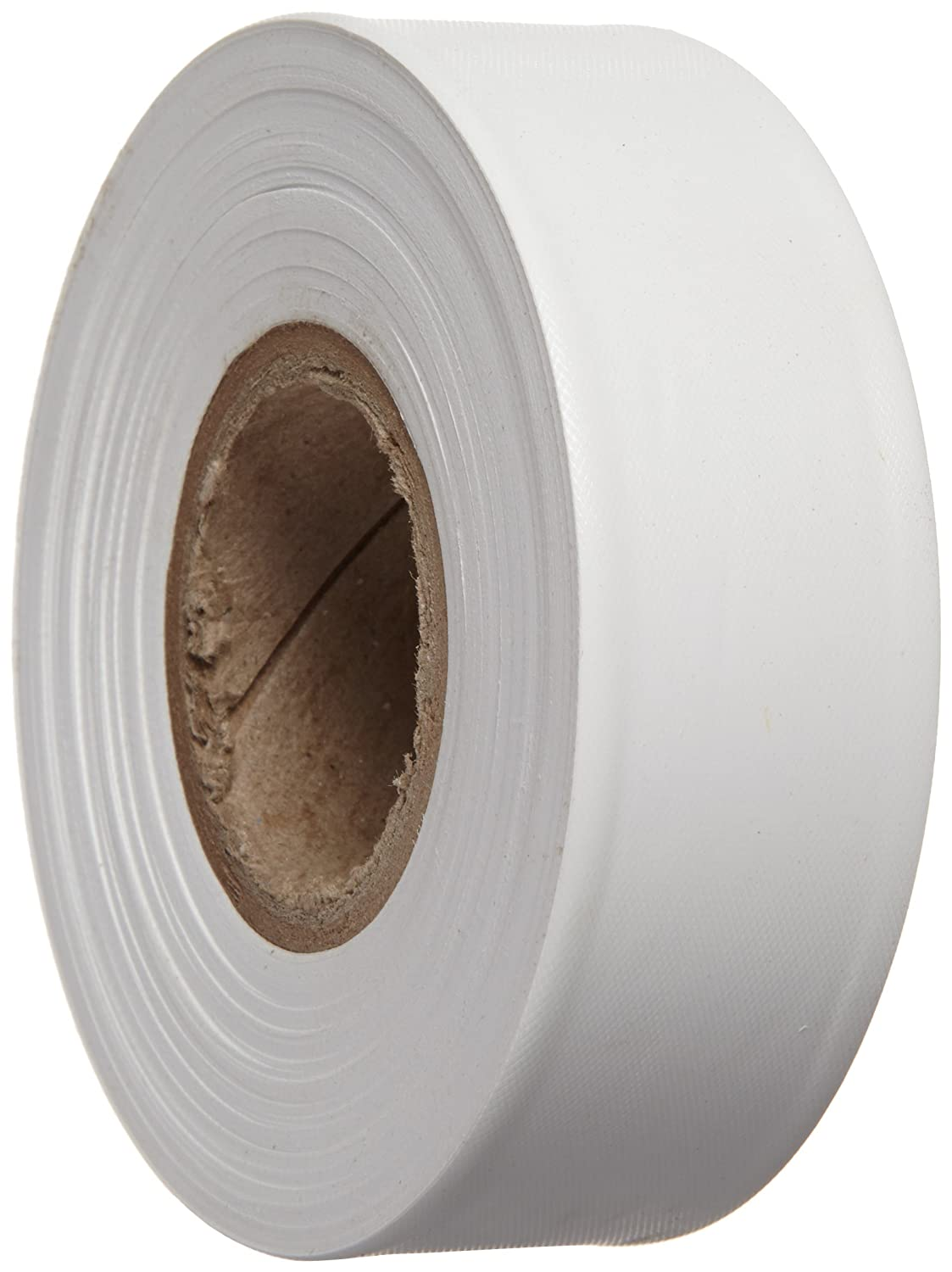 1.188 Width - 58342 Pack of 1 300 Length Brady White Flagging Tape for Boundaries and Hazardous Areas Non-Adhesive Tape
