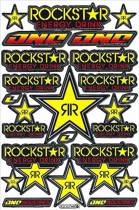 1 Rockstar bebida energética Metal Mulisha Yamaha Kawasaki Motocross Race Racing F1 Logo del patrocinador adhesivo