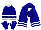 Polar Wear Boys Knit Hat, Scarf And Gloves Set- Blue