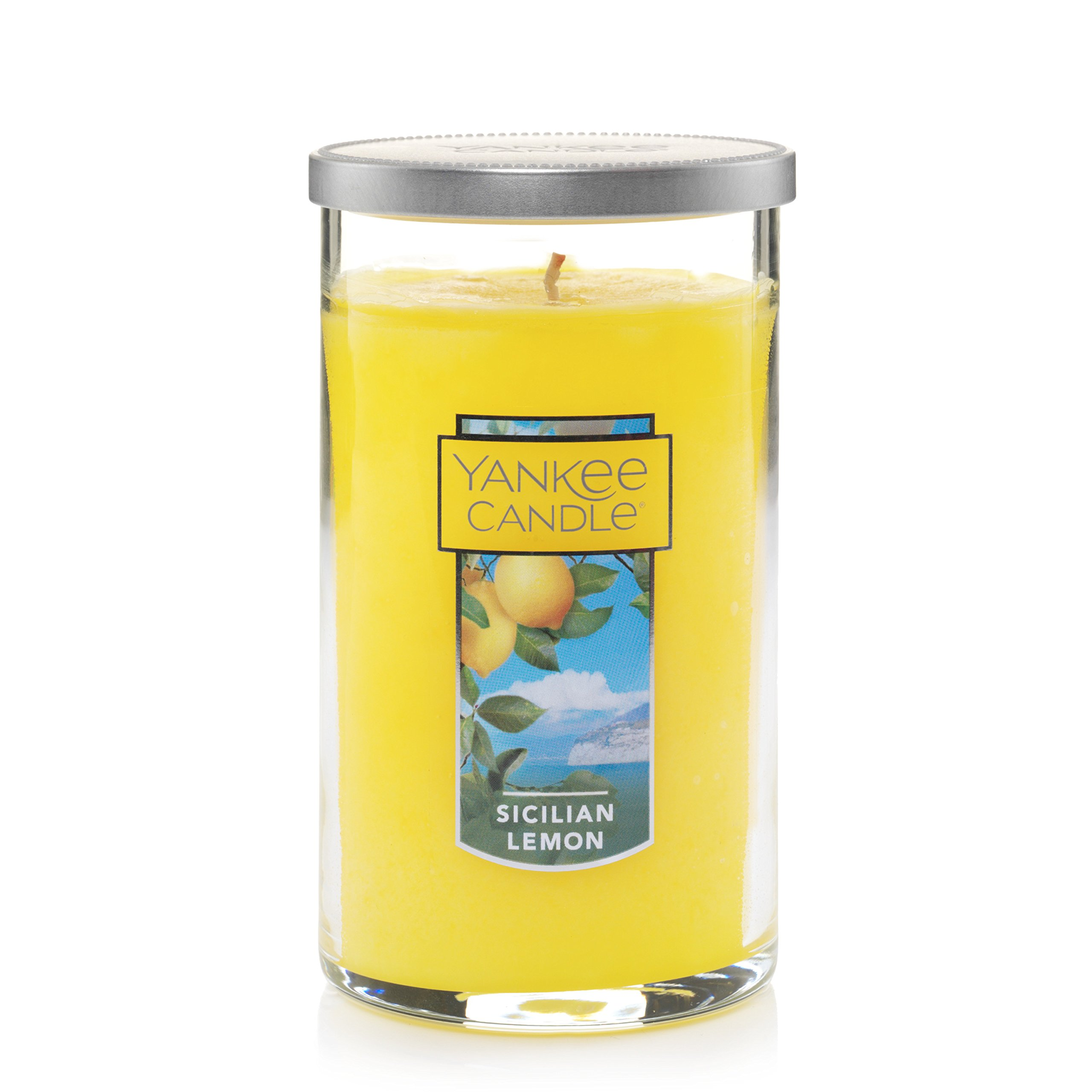 Yankee Candles Sicilian Lemon Medium Perfect Pillar Candle Festive Scent