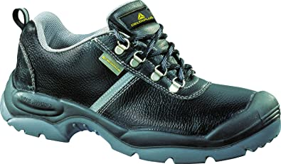 5c23a893027 Delta Plus Montbrun Wide Fit Mens Black Leather Steel Toe Cap Safety ...
