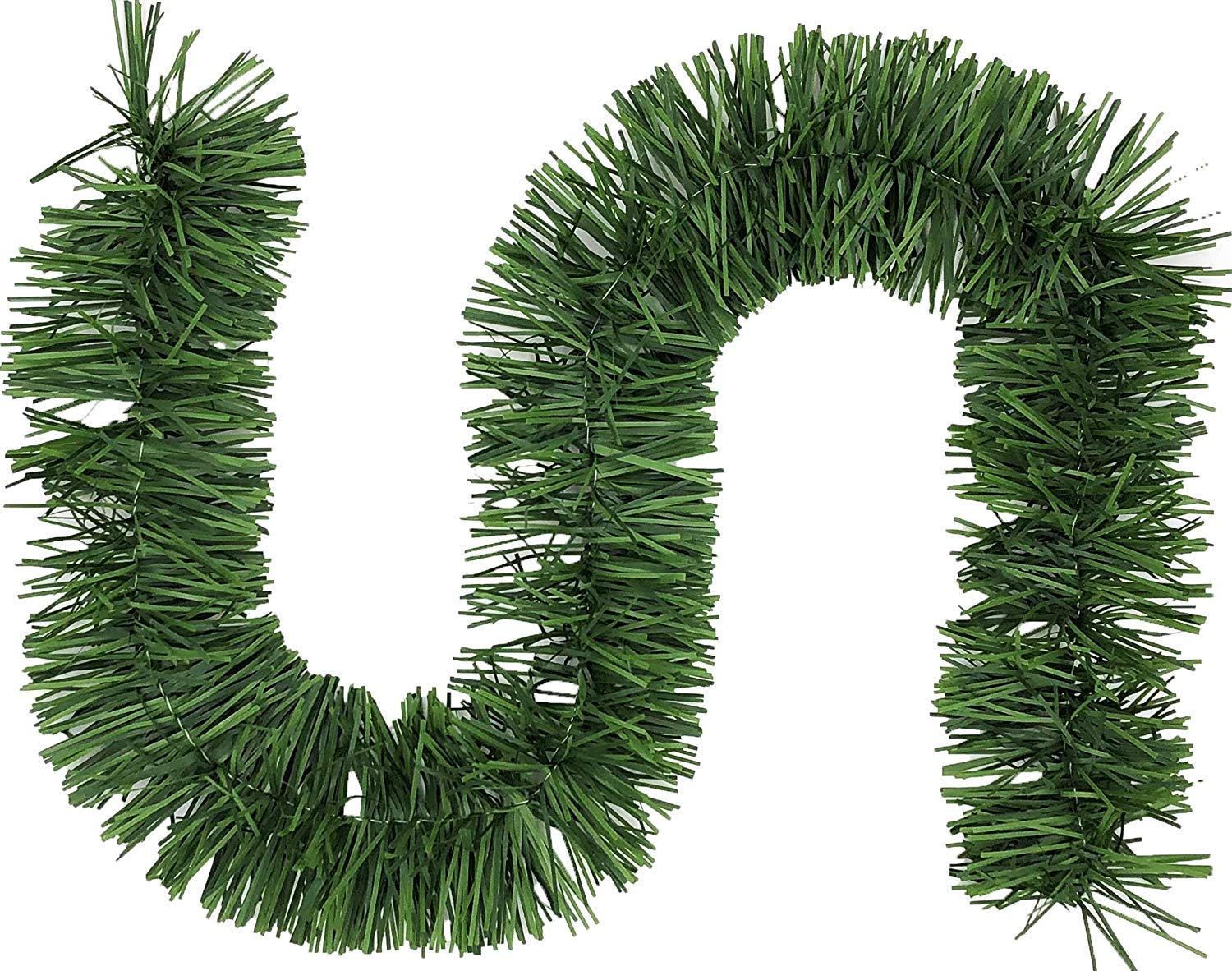 Non-Lit Soft Green Holiday Decor for Outdoor or Indoor Use iTrustech 18ft Christmas Green Garland for Christmas Decorations or Wedding Part Premium Quality Home Garden Artificial Greenery