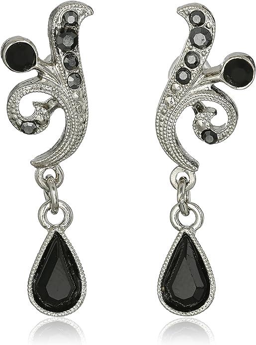 1920s Crystal Vine Drop Earring