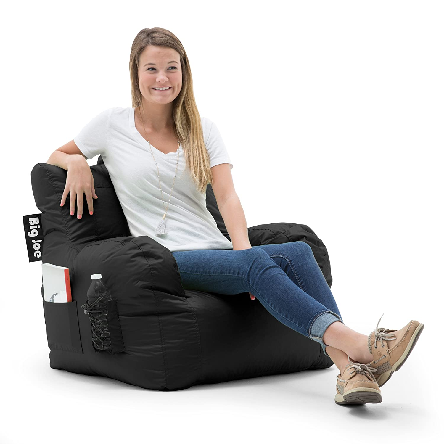 Big Joe Dorm Bean Bag Chair Stretch Limo Black