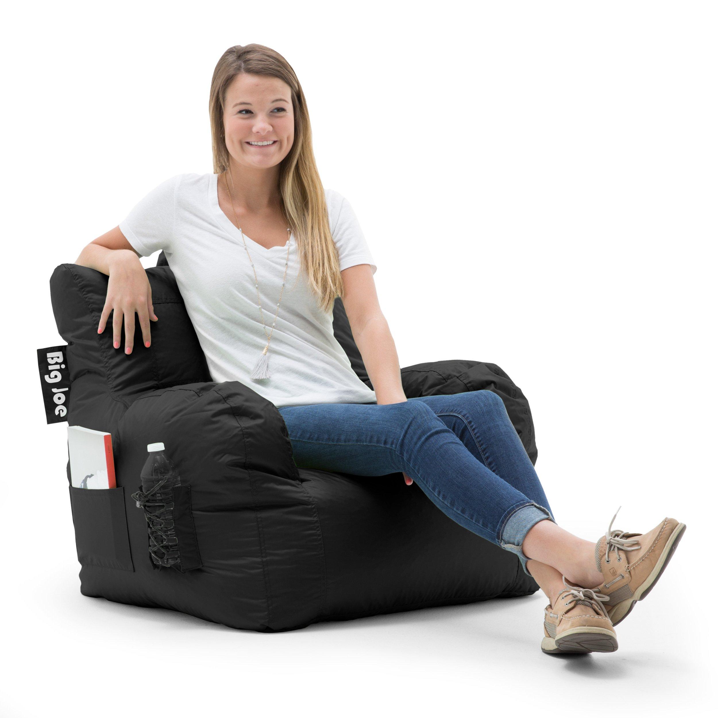 Big Joe 645602 Dorm Bean Bag Chair, Stretch Limo Black