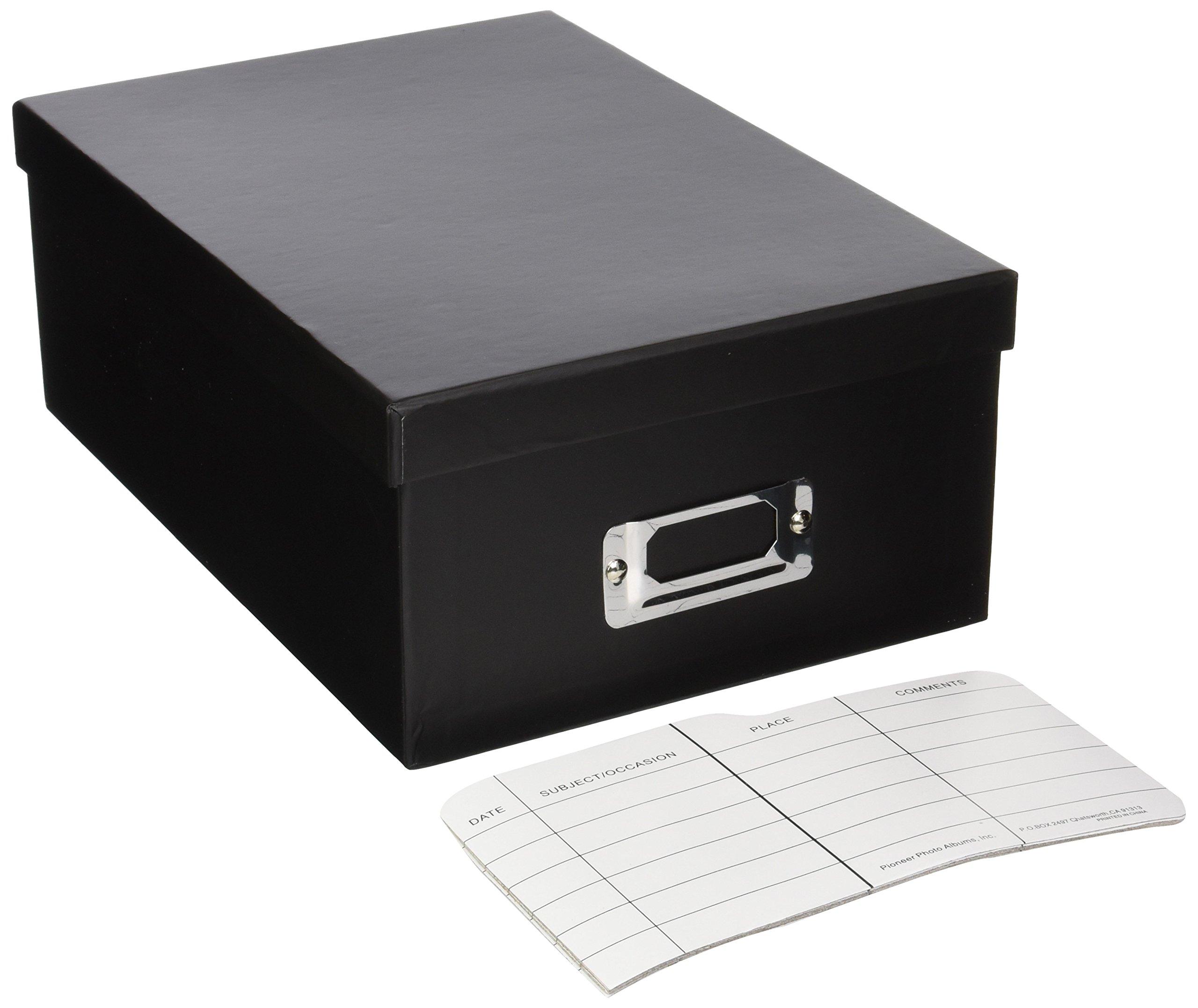 Pioneer Photo Albums B-1BLK Photo Storage Box (Black, 12-Pack) by Pioneer Photo Albums