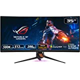 "Asus Rog Swift PG35VQ 35"" Curved HDR Gaming Monitor 200Hz (3440 X 1440) 2ms G-Sync Ultimate Eye Care DisplayPort HDMI…"