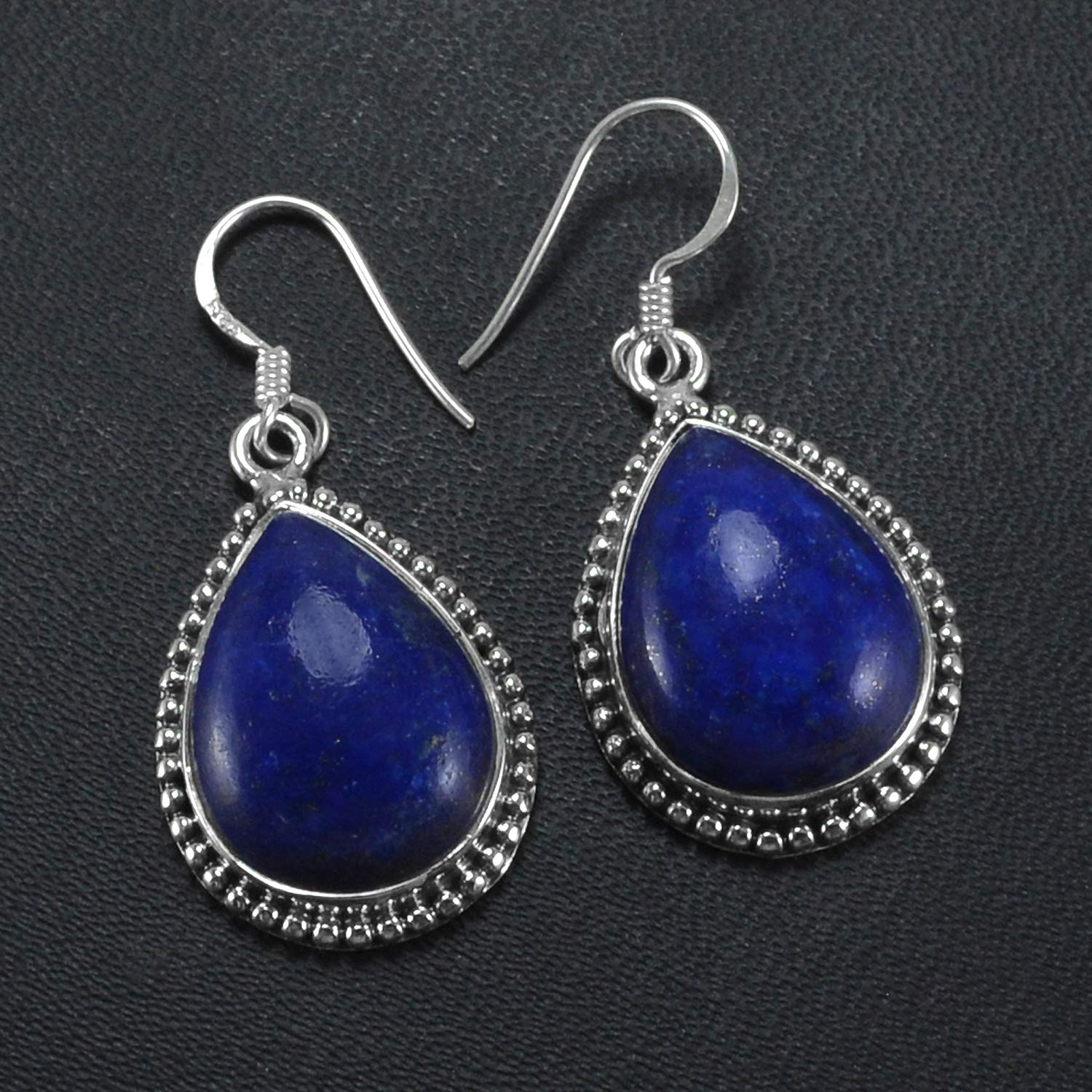 Saamarth Impex Lapis Lazuli 925 Sterling Silver Dangle Earring PG-155710