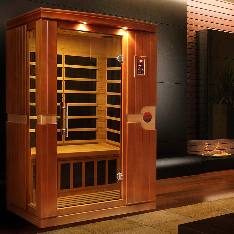 amazon com dynamic saunas amz dyn 6210 01 venice 2 person far