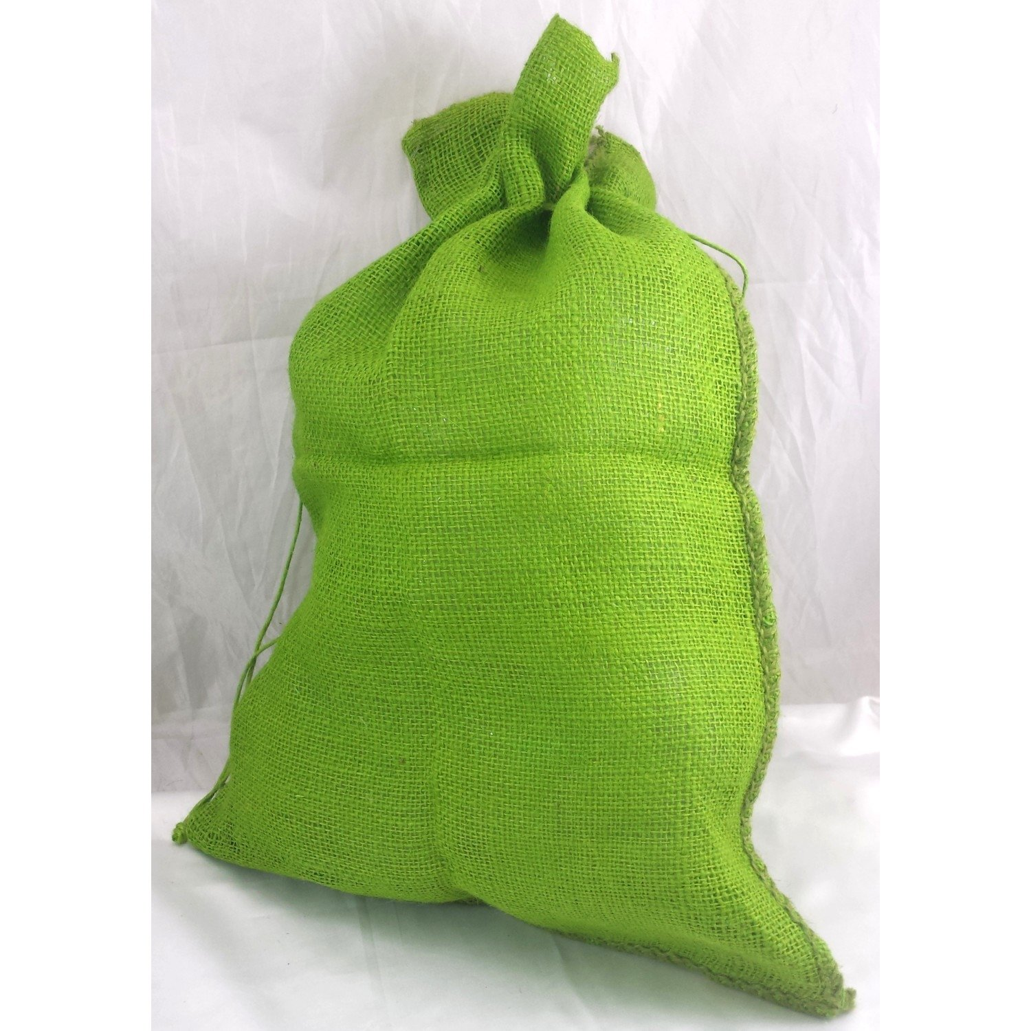 Kel-Toy Christmas and Everyday Gift Wrap & Crafting Jute Sacks in 3 Colors BUYERS' CHOICE (2, green) by Kel-Toy